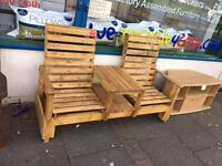 Jack and Jill bench outdoor furniture