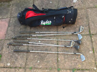 6 Howson Persona Series Golf Clubs with Red & Black Ryder bag