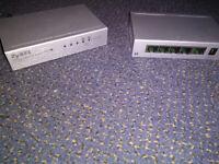 ZYLEX es105a desktop mini Ethernet switch - multiples available
