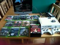 XBox 360 12 Games/2 Wireless Controllers