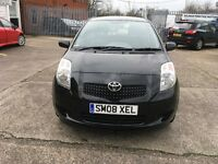 Toyota Yaris 1.0 tr 2008 black two former owner mot until 5/5/18recently been service