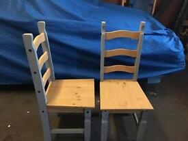 2x Pine Chairs - New