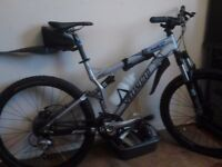 specialized full suspension mountain bike, with a brand new braking system fitted