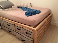 Futon storage bed