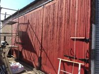 Garage barn out building doors
