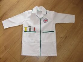 ELC DOCTORS LAB COAT for approx 3-6 year old PERFECT CONDITION FAB 4 dressing up / pretend play *2
