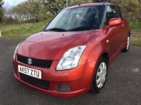 57 REG SUZUKI SWIFT 1.3 GL ONLY 70K IMMACULATE WAS £1999 NOW £1699