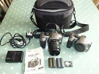 Canon EOS 300D Camera, lens, carry bag etc