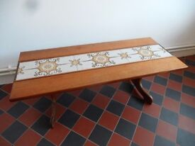 1960's 1970's G Plan coffee table teak Retro Occasional Side Tile