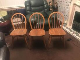 Set of 3 1960s chairs