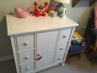 Customised mamas and papas change table and drawers