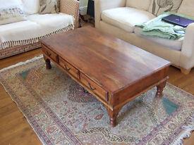 Coffee table dark wood