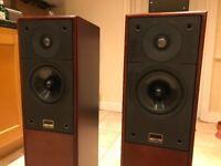 Epos ES15 floorstanding speakers in cherry veneer