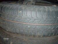 ford ka tyres on steel wheels nearly new