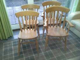 Farmhouse Chairs, Pine