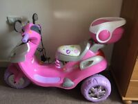 Pink electric scooter v6 ride on