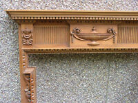 A fine carved pine George III fire surround