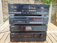 Pioneer hif Fi system, amplifier, tuner, multi CD player, twin cassette deck