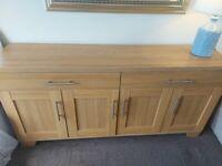 (NOW SOLD) Large Oak effect Sideboard