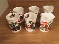 6 x Fine Bone China Mugs