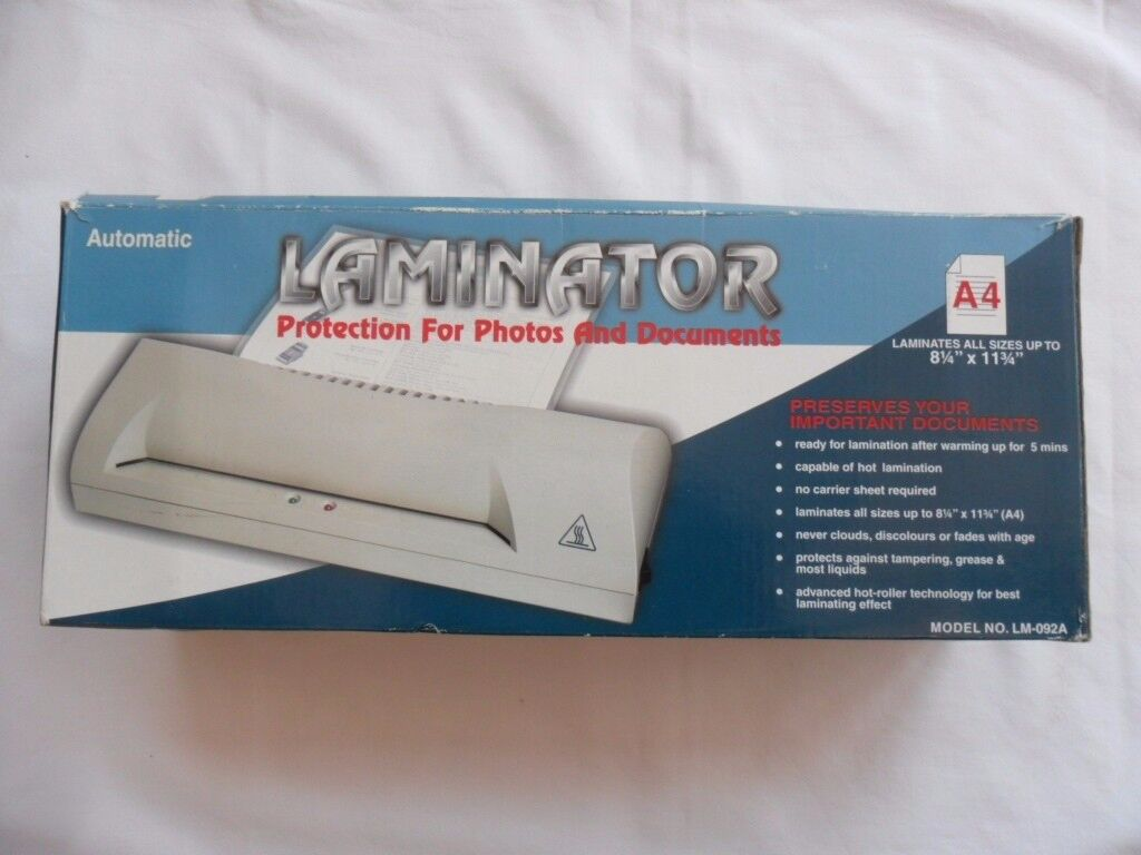 A4 Automatic Laminator All sizes up to 8 x 11 ( Boxed)