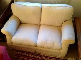 Cream Laura Ashley Two Seater Sofa