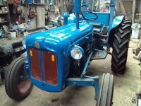 Ford Dexta Tractor. Reconditioned Engine, Radiator, lights. All new Tyres