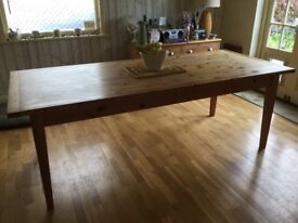 Large Shaker Style Pine Table from Andrew James Designs, Lewes seats 8 - 10