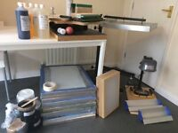 Screen printing full kit clothing company start up tshirt print flash dryer exposure unit