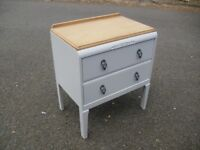 Lovely Oak 60's Era Small Chest Of Drawers Painted Chic Not Shabby