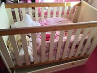 Cot and wardrobe set