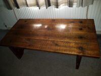 140cm x 69cm x 40cm high. Tropical hardwood Coffee table