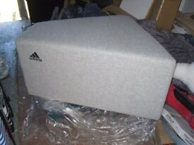ADIDAS ORIGINALS PADDED SEAT BENCH MAN CAVE BEDROOM VERY STRONG STURDY NEW