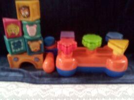 Hammer bench and soft plastic blocks