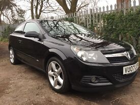 VAUXHALL ASTRA COUPE SRI 1.8 2007 3 DOOR IN BLACK PRICED TO SELL QUICKLY £1470 IN CAERPHILLY