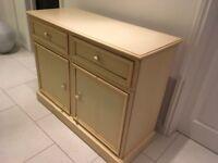 Cream small sideboard unit