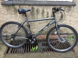 moutain bike in perfect working condition, comes with rain cover and an extra saddle