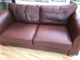 Leather sofa bed Marks and Spencer's