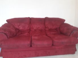 Red second hand sofa - FREE! (Moving house)