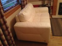 Ivory 2 seater madras leather sofa 6 months old immaculate condition