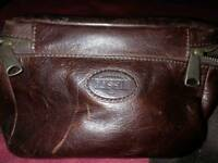 Fossil small leather camera bag