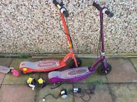 2 X Razor E100 electric scooters
