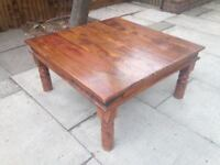 Coffee Table Solid and Sturdy Hardwood Wooden Table Sheesham Wood Style
