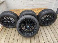 "GENUINE BMW M PERFORMANCE ,405M DOUBLE SPOKE SPIDER ALLOY 18"""