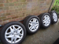 17x4 Genuine Mercedes Alloy Wheels and 225/55/17 Tyres 5x112 Will Fit S-Class VITO/ VIANO
