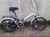 Folding bike plus extras