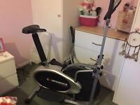 Cross trainer- exercise bike