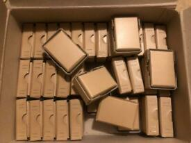 Many small strong cardboard boxes
