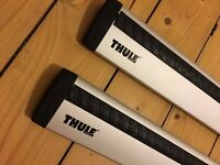 Thule Roof Rack Wing Bars, 118cm In great condition
