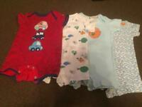 Bundle of 4 baby grows 9-12 months